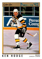 (HCW) 1991-92 OPC Premier #41 Ken Hodge Jr. Bruins NHL Mint