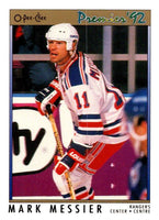 (HCW) 1991-92 OPC Premier #51 Mark Messier NY Rangers NHL Mint