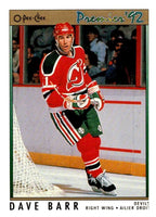(HCW) 1991-92 OPC Premier #54 Dave Barr Red Wings NHL Mint