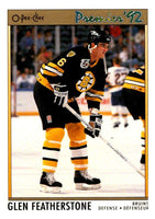 (HCW) 1991-92 OPC Premier #66 Glen Featherstone Bruins NHL Mint