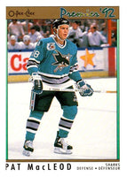 (HCW) 1991-92 OPC Premier #87 Pat MacLeod RC Rookie Sharks NHL Mint