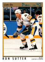 (HCW) 1991-92 OPC Premier #95 Ron Sutter Blues NHL Mint