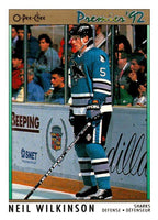 (HCW) 1991-92 OPC Premier #110 Neil Wilkinson Sharks NHL Mint