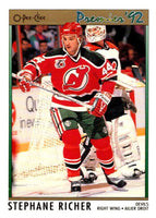(HCW) 1991-92 OPC Premier #113 Stephane Richer NJ Devils NHL Mint