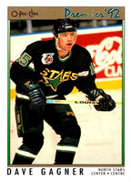 (HCW) 1991-92 OPC Premier #128 Dave Gagner North Stars NHL Mint
