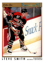 (HCW) 1991-92 OPC Premier #136 Steve Smith Blackhawks NHL Mint