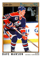 (HCW) 1991-92 OPC Premier #137 Dave Manson Oilers NHL Mint