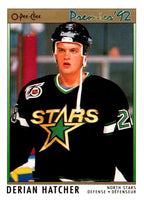 (HCW) 1991-92 OPC Premier #143 Derian Hatcher North Stars NHL Mint