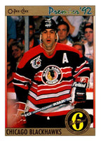 (HCW) 1991-92 OPC Premier #150 Chris Chelios Blackhawks NHL Mint