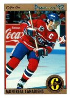 (HCW) 1991-92 OPC Premier #152 Guy Carbonneau Canadiens NHL Mint