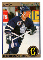 (HCW) 1991-92 OPC Premier #160 Rob Cimetta Maple Leafs NHL Mint