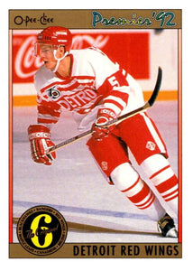 (HCW) 1991-92 OPC Premier #163 Nicklas Lidstrom Red Wings NHL Mint