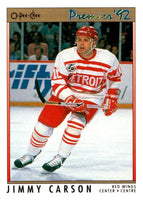 (HCW) 1991-92 OPC Premier #167 Jimmy Carson Red Wings NHL Mint