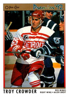 (HCW) 1991-92 OPC Premier #169 Troy Crowder Red Wings NHL Mint