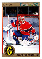 (HCW) 1991-92 OPC Premier #170 Patrick Roy Canadiens NHL Mint