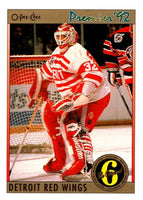 (HCW) 1991-92 OPC Premier #175 Tim Cheveldae Red Wings NHL Mint