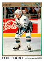 (HCW) 1991-92 OPC Premier #187 Paul Fenton Sharks NHL Mint
