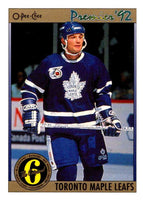 (HCW) 1991-92 OPC Premier #189 Mike Krushelnyski Maple Leafs NHL Mint