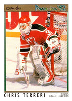 (HCW) 1991-92 OPC Premier #197 Chris Terreri NJ Devils NHL Mint