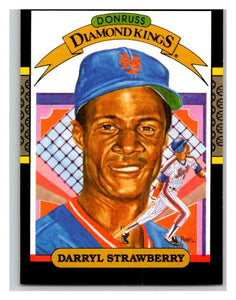 1987 Donruss #4 Darryl Strawberry Mets DK MLB Mint Baseball