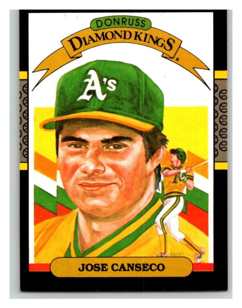 1987 Donruss #6 Jose Canseco Athletics DK MLB Mint Baseball