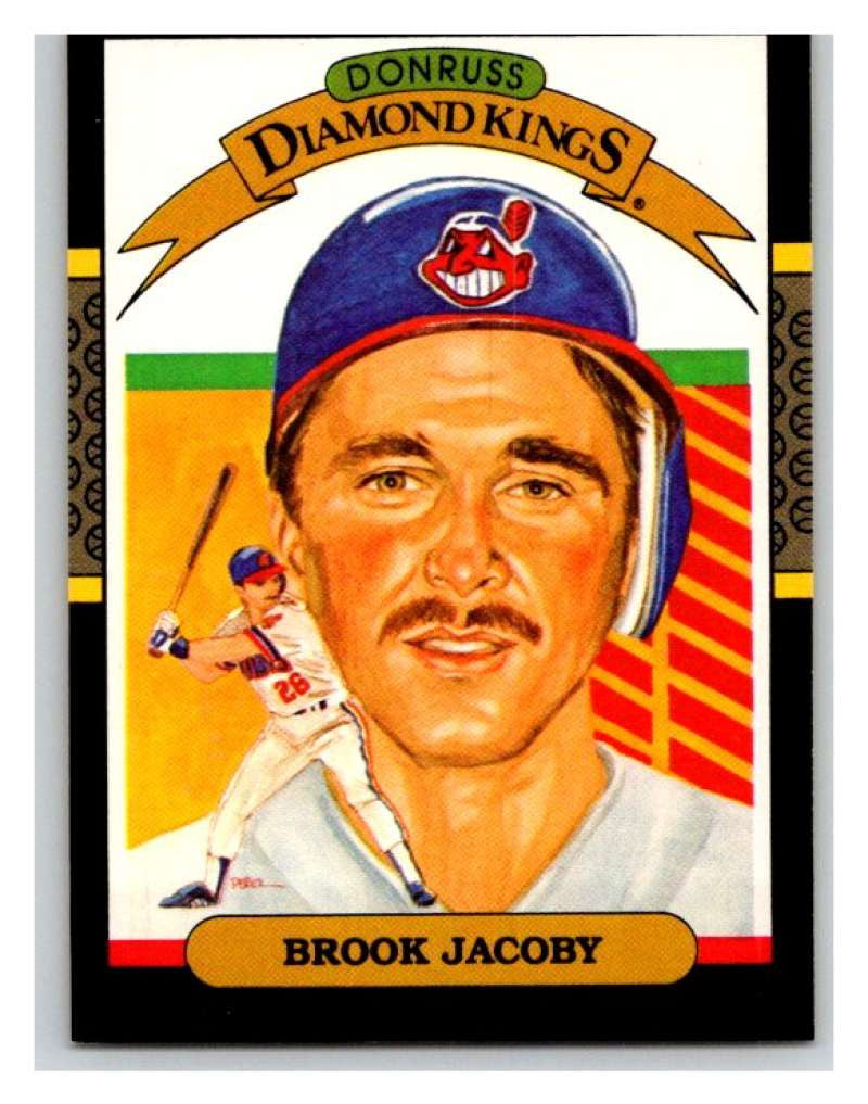 1987 Donruss #8 Brook Jacoby Indians DK MLB Mint Baseball