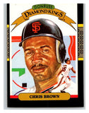 1987 Donruss #11 Chris Brown Giants DK MLB Mint Baseball