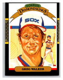 1987 Donruss #25a Greg Walker White Sox DK ERR MLB Mint Baseball