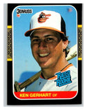 1987 Donruss #30 Ken Gerhart RC Rookie Orioles MLB Mint Baseball