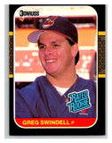 1987 Donruss #32 Greg Swindell RC Rookie Indians MLB Mint Baseball