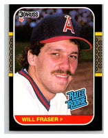 1987 Donruss #40 Willie Fraser RC Rookie Angels MLB Mint Baseball