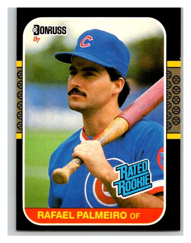1987 Donruss #43 Rafael Palmeiro RC Rookie Cubs MLB Mint Baseball