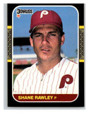 1987 Donruss #83 Shane Rawley Phillies MLB Mint Baseball