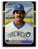 1987 Donruss #90 Juan Nieves Brewers MLB Mint Baseball