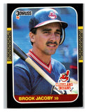 1987 Donruss #104 Brook Jacoby Indians MLB Mint Baseball
