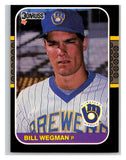 1987 Donruss #109 Bill Wegman Brewers MLB Mint Baseball