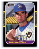 1987 Donruss #117 Paul Molitor Brewers MLB Mint Baseball
