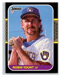 1987 Donruss #126 Robin Yount Brewers MLB Mint Baseball