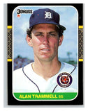 1987 Donruss #127 Alan Trammell Tigers MLB Mint Baseball