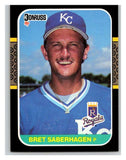 1987 Donruss #132 Bret Saberhagen Royals MLB Mint Baseball