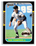 1987 Donruss #145 Robby Thompson RC Rookie Giants MLB Mint Baseball
