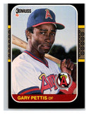 1987 Donruss #160 Gary Pettis Angels MLB Mint Baseball