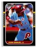 1987 Donruss #165 Juan Samuel Phillies MLB Mint Baseball