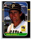 1987 Donruss #168 Mike C. Brown Pirates MLB Mint Baseball