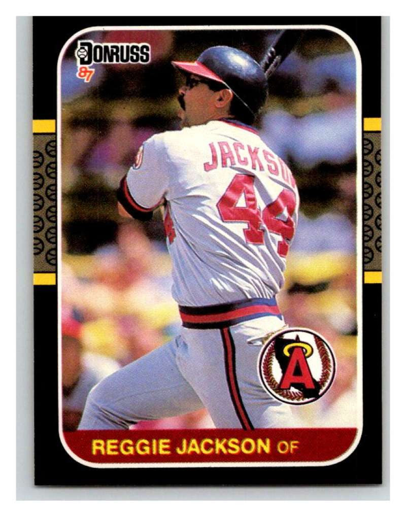 1987 Donruss #210 Reggie Jackson Angels MLB Mint Baseball