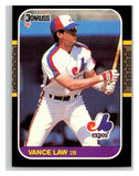 1987 Donruss #212 Vance Law Expos MLB Mint Baseball