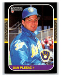 1987 Donruss #214 Dan Plesac Brewers MLB Mint Baseball