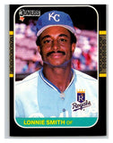 1987 Donruss #225 Lonnie Smith Royals MLB Mint Baseball