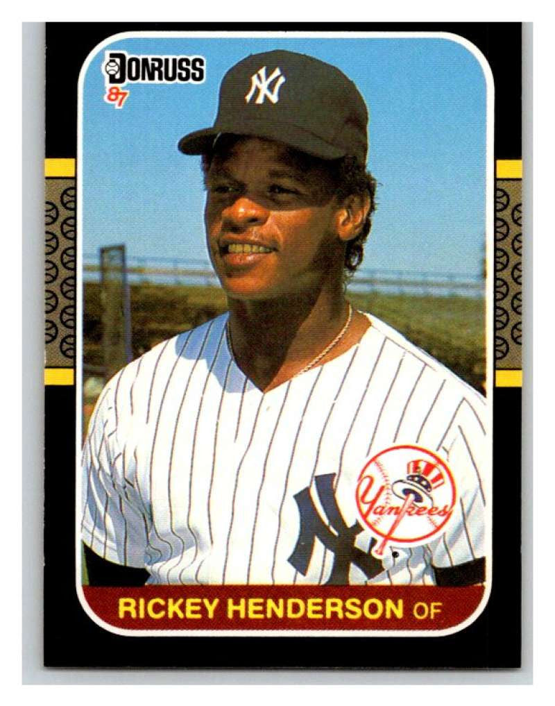 1987 Donruss #228 Rickey Henderson Yankees MLB Mint Baseball