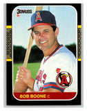 1987 Donruss #233 Bob Boone Angels MLB Mint Baseball